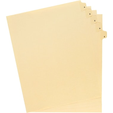 Oxford® Legal Trade Exhibit Index Tab Dividers, Alphabetical