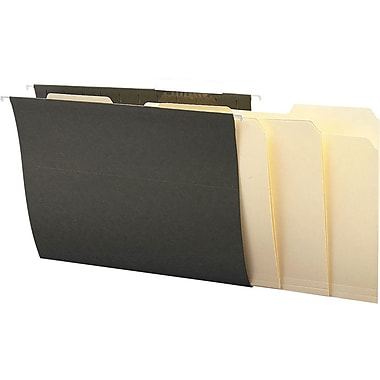 Staples® Interior File Folders, Legal, 3-Tab, Manila, 100/Box