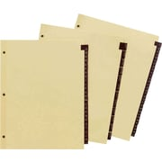 "Staples Alphabetical Leather Tab Dividers, Black, 8 1/2"" x 11"", A-Z Tab Set (18946/13552)"