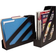 Staples Magazine File, Black, 2/Pack (10598-CC)