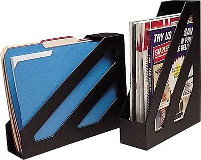 Staples Magazine File, Black, 2/Pack (10598-CC)