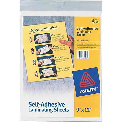 avery self adhesive laminating sheets 3mil letter size With avery letter size self adhesive laminating sheets