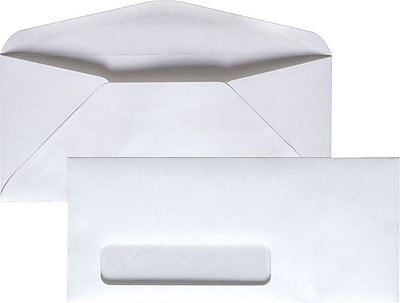 Staples Gummed Business Envelope, 3 7/8