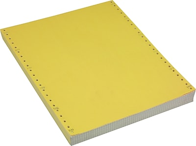 Staples Multi-Part Colored Computer Paper, 2-Part, 9 1/2