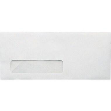 Staples® #10, Left Window Recycled Envelopes, Gummed Closure, 500/Box
