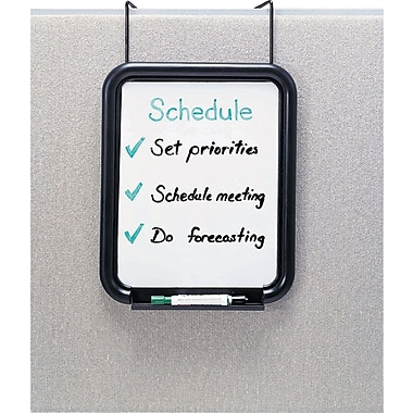 Safco Panelmate Cubicle Dry Erase Board, Black, Each (4158CH)