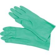 Impact Nitrile Flock-Lined Gloves, Green, Large, 12/Pk