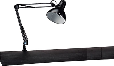 Tensor® Black Swing-Arm Incandescent/CFL Clamp Lamp