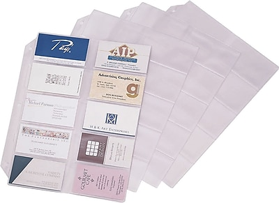 Cardinal Business Card File Refill Pages 10Pack 7856000