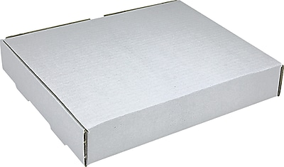 White Corrugated Mailers, 12-1/8