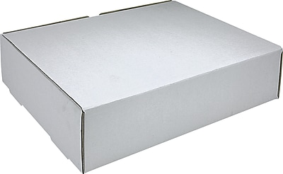 White Corrugated Mailers, 15-1/8