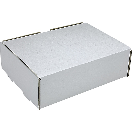white corrugated mailers 9 x 6 1 2 x 2 3 4 50 bundle staples