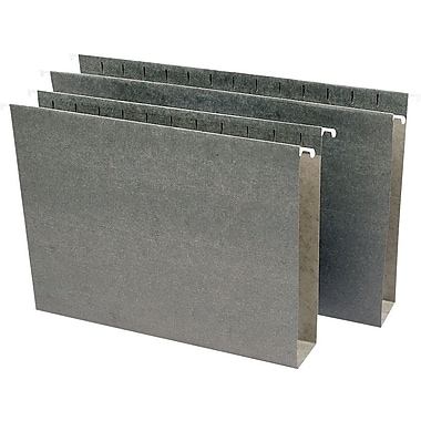 Staples® Box-Bottom Hanging File Folders, Letter, 3