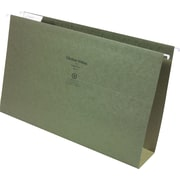 "Staples® Box-Bottom Hanging File Folders, Legal, 2"" Capacity, Standard Green, 25/Box (117523)"