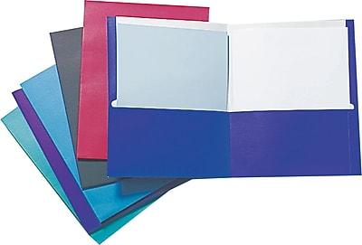 Staples® 2-Pocket Folder, Assorted Colors