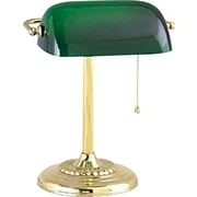 Tensor® Banker's CFL Desk Lamp, Brass-Plated