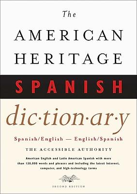 Houghton Mifflin American Heritage® Hardbound Spanish/English Dictionary