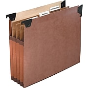 Pendaflex Premium Reinforced File Pocket with Swing Hooks, 3 Dividers, Legal size, Redrope, 5/Box (45423)