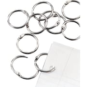 "Staples 1"" Loose Leaf Rings, Silver, 16/Pack"