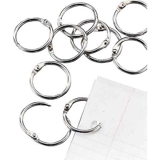 staples loose leaf rings 1 size silver staples