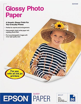 Epson® Glossy Photo Paper 8-1/2