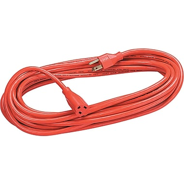 Fellowes Heavy-Duty Extension Cord, 25' - Orange