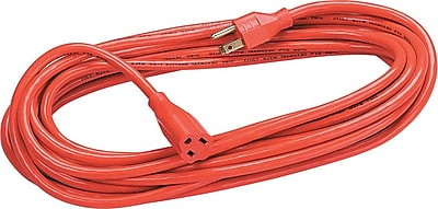 Fellowes® Indoor/Outdoor 3-Prong Heavy-Duty Extension Cords, 25-ft., Orange