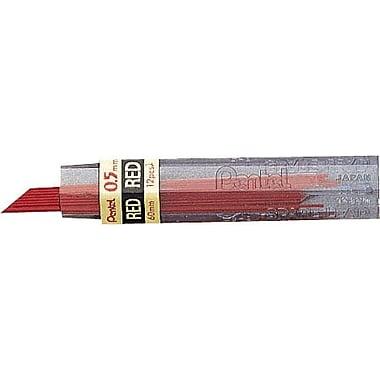 Pentel Red Drafting Lead Refills .5mm, 36 Leads
