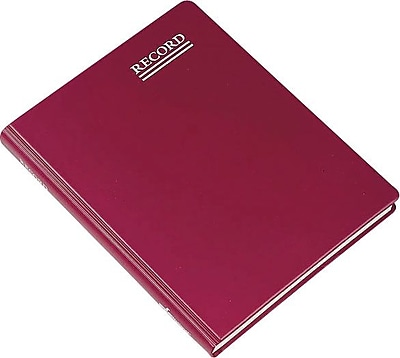 National® Red Vinyl Record Book, 8-1/4