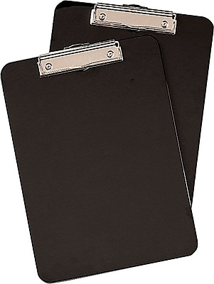 Staples® Clipboards, Black, 2/Pack, 9