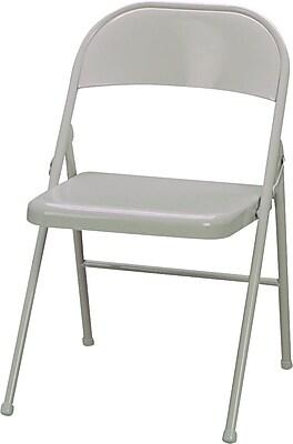 Super Sudden Comfort Metal Folding Chairs Beige 4 Pack Brickseek Pabps2019 Chair Design Images Pabps2019Com
