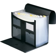 Staples 13 Pocket Plastic Expanding Desktop File, Black, Each