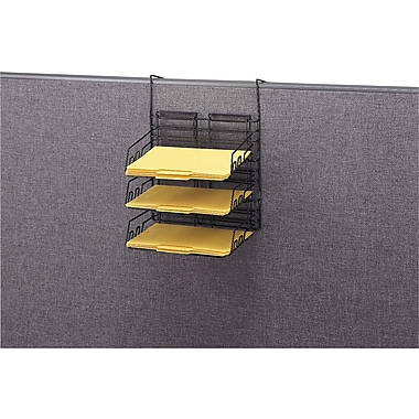 Safco Panelmate Cubicle Tray, Black, Set (4150CH)