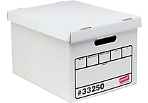 Staples Basic Duty Storage Boxes, Letter/Legal Size, 10 Pack