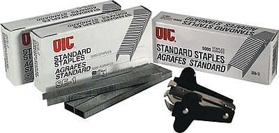 OIC Standard Chisel Point Staples, 1/4