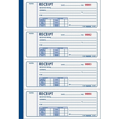 Rediform® Receipt Books, Hardbound & Soft Cover