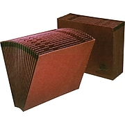 Pendaflex® Earthwise® Recycled Expanding Files, 1-31 Index, Letter, Size, Redrope, Each (ER17D)
