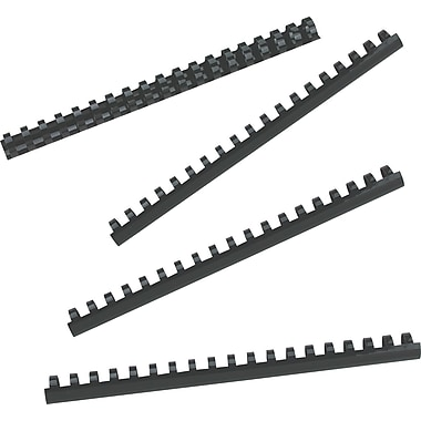 "GBC® CombBind 3/4"" Plastic Binding Spines, Black, 100-Pack"