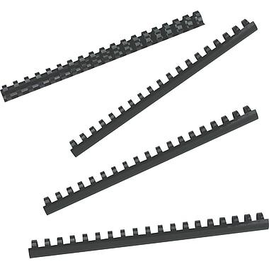 GBC® - Bandes de reliure CombBind en plastique, 3/4 po, noires, paq./100