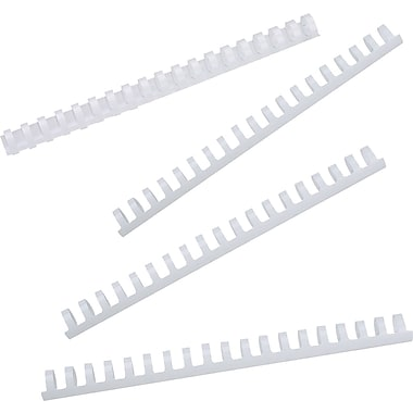 GBC® – Bandes de reliure CombBind, 3/8 po, blanches, bte/100