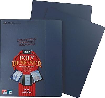 GBC® Designer Premium Plus Presentation Back Covers, Navy, 25/Box
