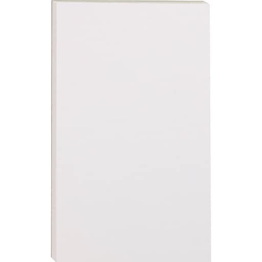 """Staples Message Pads, 5"""" x 8"""", Unruled, White, 100 Sheets/Pad, 12 Pads/Pack (51304/18604STP)"""