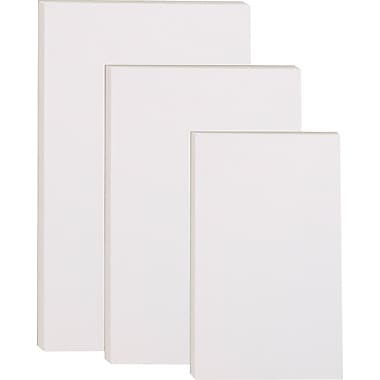 Staples® Glue-Top Notepads, Unruled, White