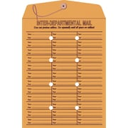 "Staples Button-and-String Kraft Inter-Departmental Envelopes, 10"" x 13"", Brown, 100/Box (472993/19298)"