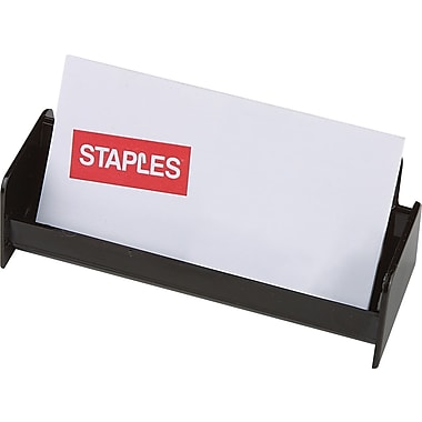 Staples® Black Plastic Business Card Holder (211797-CC)