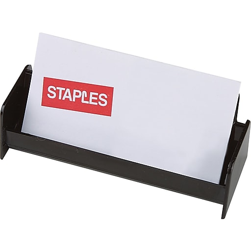 Staples Black Plastic Business Card Holder 211797 Cc Staples