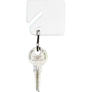 MMF Industries™ STEELMASTER® Slotted Rack Key Tags, White, 1 1/2