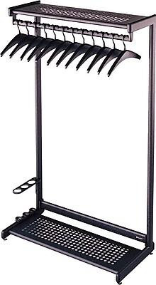 Quartet® Two-Shelf Garment Rack, Freestanding, 36