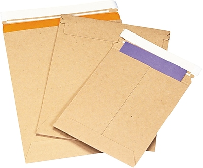 Self-Seal StayFlat Kraft Mailers, 11