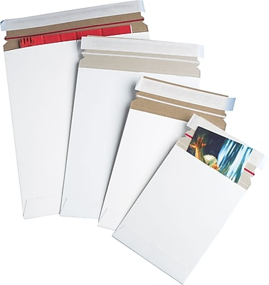 QuickStrip™ StayFlat White Mailers, 18